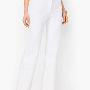 TALBOTS WHITE WIDE-LEG Irish Linen Pants 16